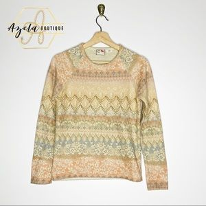 Anthropologie Postmark Garden Knit Sweater